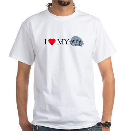 I Love My Pot Bellied Pig 2 White T-Shirt