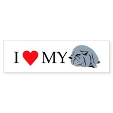 I Love My Pot Bellied Pig 2 Bumper Sticker