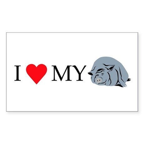 I Love My Pot Bellied Pig 2 Sticker (Rectangle)