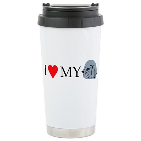I Love My Pot Bellied P Stainless Steel Travel Mug