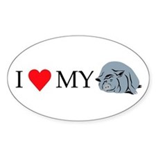 I Love My Pot Bellied Pig 2 Decal