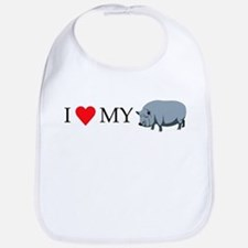 I Love My Pot Bellied Pig (1) Bib