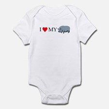 I Love My Pot Bellied Pig (1) Infant Bodysuit