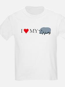 I Love My Pot Bellied Pig (1) T-Shirt