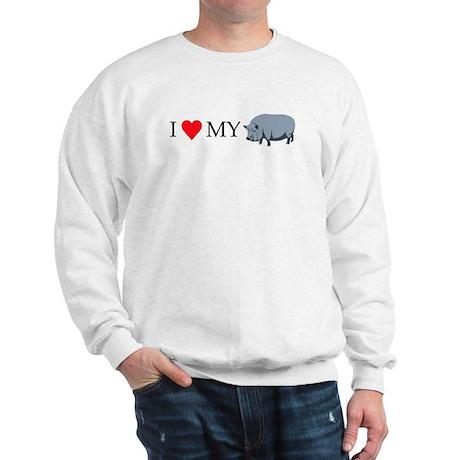 I Love My Pot Bellied Pig (1) Sweatshirt