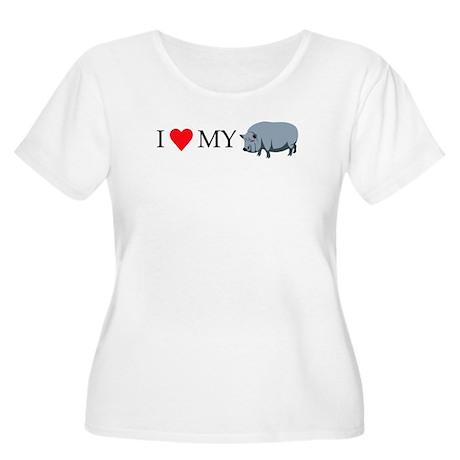 I Love My Pot Women's Plus Size Scoop Neck T-Shirt
