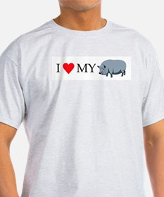 I Love My Pot Bellied Pig (1) T-Shirt