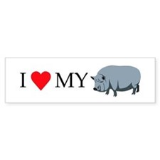 I Love My Pot Bellied Pig (1) Bumper Sticker