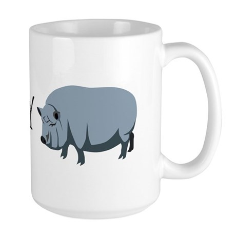 I Love My Pot Bellied Pig (1) Large Mug