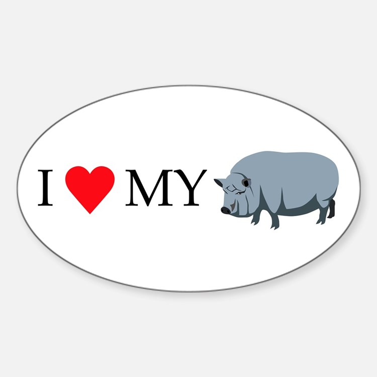 I Love My Pot Bellied Pig (1) Decal