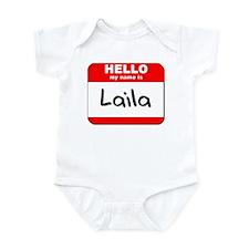 Hello my name is Laila Infant Bodysuit
