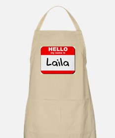 Hello my name is Laila BBQ Apron
