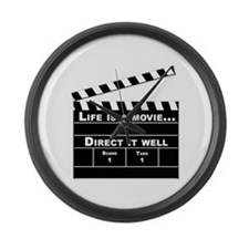 Life is a Movie Large Wall Clock