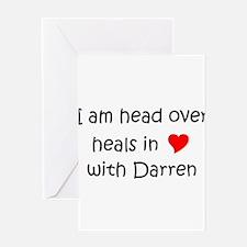 Unique I love darren Greeting Card