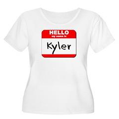 Hello my name is Kyler Women's Plus Size Scoop Nec