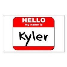 Hello my name is Kyler Rectangle Decal