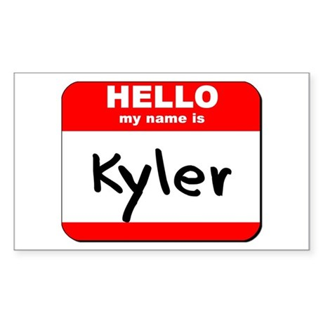 Hello my name is Kyler Rectangle Sticker