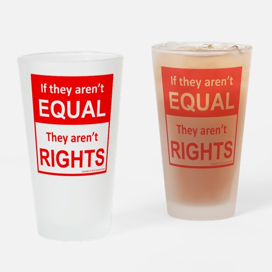 equal rights square v 2 Drinking Glass