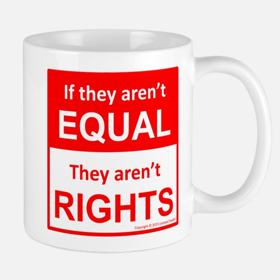 equal rights square v 2 Mugs
