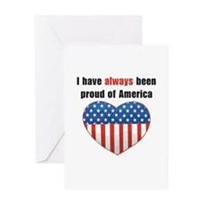 Proud of America Flag Greeting Card