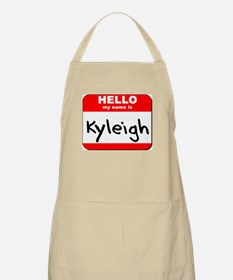 Hello my name is Kyleigh BBQ Apron