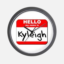 Hello my name is Kyleigh Wall Clock