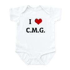 I Love C.M.G. Infant Bodysuit