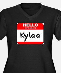 Hello my name is Kylee Women's Plus Size V-Neck Da