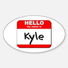 Hello my name is Kyle Oval Decal