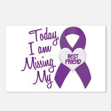 Missing My Best Friend 1 PURPLE Postcards (Package
