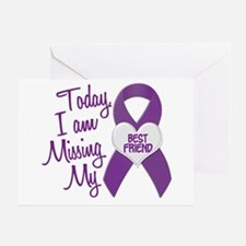 Missing My Best Friend 1 PURPLE Greeting Card