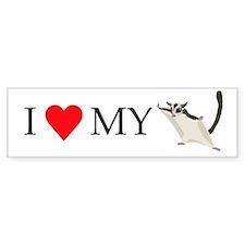 I Love My Sugar Glider Bumper Sticker