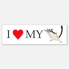 I Love My Sugar Glider Sticker (Bumper)