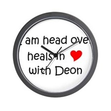 Funny I love deon Wall Clock