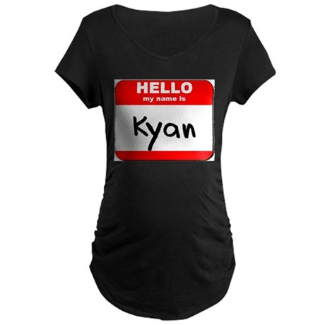 Hello my name is Kyan Maternity Dark T-Shirt