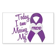 Missing My Friend 1 PURPLE Rectangle Decal