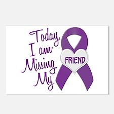 Missing My Friend 1 PURPLE Postcards (Package of 8