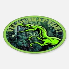 Velociraptor Oval Decal