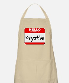 Hello my name is Krystle BBQ Apron