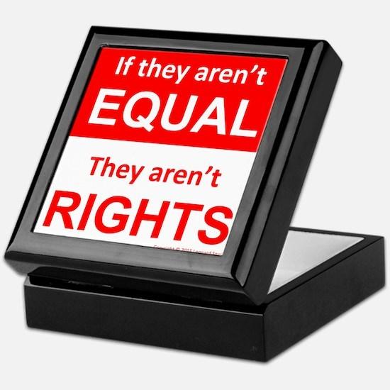 equal rights square v 2 Keepsake Box