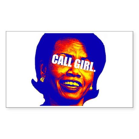 CONDI CALL GIRL Rectangle Sticker