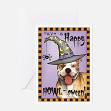 Halloween Pit Bull Greeting Card