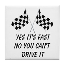 Race Car Driver Tile Coaster