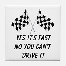 Race Car Driver Tile Coaster