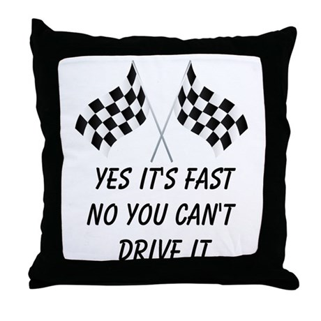 Race Car Driver Throw Pillow