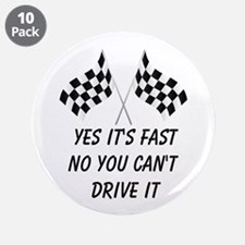 "Race Car Driver 3.5"" Button (10 pack)"