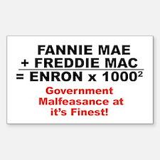 Fannie Mae Freddie Mac Bumper Sticker)