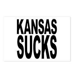 Kansas Sucks Postcards (Package of 8)