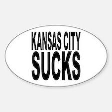 Kansas City Sucks Oval Decal