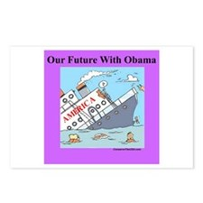 """""""Obama Will Sink America"""" Postcards (Package of 8)"""